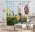 3D Yellow Minions Blockout Photo Curtain Printing Curtains Drapes Fabric Window