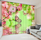 3D Flowers Charm 4 Blockout Photo Curtain Printing Curtains Drapes Fabric Window
