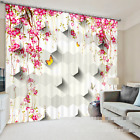 3D Hanging Flowers Blockout Photo Curtain Printing Curtains Drapes Fabric Window