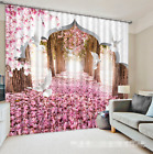 3D Doves Flower Blockout Photo Curtain Printing Curtains Drapes Fabric Window AU