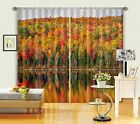 3D Color Forest Blockout Photo Curtain Printing Curtains Drapes Fabric Window AU