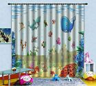 3D Cute Fishes Blockout Photo Curtain Printing Curtains Drapes Fabric Window AU
