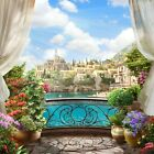 3D Balcony Scenery 196 WallPaper Murals Wall Print Decal Wall Deco AJ WALLPAPER