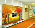 3D Autumn trees 1H Wall Paper Murals Wall Print Decal Wall Deco AJ WALLPAPER