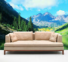 3D Mountains Lake Scenery 39 Wall Paper Wall Print Decal Wall AJ Wall Paper