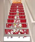 3D Christmas Tree 3 Stair Risers Adornment Photo Mural Vinyl Decal Wallpaper AU