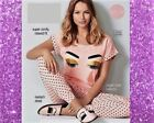 NEW LADIES CUTE AVON EYELASH PYJAMAS & SLIPPERS 100% COTTON PJ'S  18-20 22-24