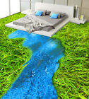 3D Grassland River 2 Floor WallPaper Murals Wall Print Decal 5D AJ WALLPAPER