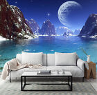 3D Mountain blue planet Wall Paper wall Print Decal Wall Deco Wall Indoor Murals