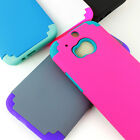 For HTC One M8 Shockproof Armor Hybrid Rubber Matte Hard Case Cover
