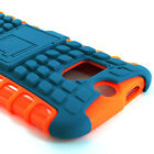 For Htc One M8 Grenade Grip Rugged Tpu Skin Hard Case Cover W/stand