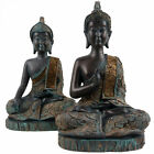 New Thai Verdigris Buddha Meditating Lotus 28cm Tall Prayer Hand Touching Earth
