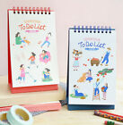 Doran Doran To Do List Planner Desk Note Pad Scheduler Cute Stand Memo Notebook