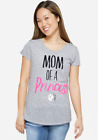 Justice Women's MOM OF A PRINCESS Graphic Tee NWT