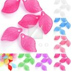 69pcs Czech Glass Leaf Beads Jewellery Making Crafts 7 Colors