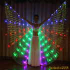 rechargeable belly dance LED isis wings cosplay glow light up prop sticks bag