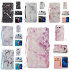 For Samsung Galaxy J5 2016 J510 Marble Pattern Glossy PU Synthetic Leather Cover
