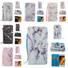 For Samsung Galaxy A3 2017 A320 Marble Pattern Glossy PU Synthetic Leather Cover