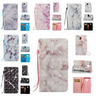 For Samsung Galaxy Xcover 4 Marble Pattern Glossy Synthetic Leather Card Cover