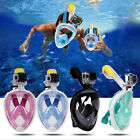 Swimming Full Face Mask Surface Diving Snorkel Scuba for GoPro XS/S/M/L/XL #WOW