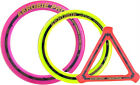 AEROBIE FRISBEE TRIPLE PACK. PRO RING, SPRINT RING AND ORBITER
