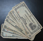 25 Japanese occupation of Philippines $10 Ten Pesos Banknotes JIM, wholesale lot
