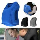 2xInflatable Air Travel Pillow Airplane Neck Head Chin Cushion Office Nap Pillow