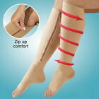 Yoocart Zipper Compression Supports Stockings Leg Open Toe 23-32mmHg Knee Socks