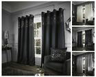Glitzy Eyelet Curtains,Faux Silk Fully Lined Ring Top Eyelet Curtains Range