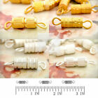 50-65pcs Necklace Screw in Clasp Connectors Jewelry Findings Bracelet Swivel