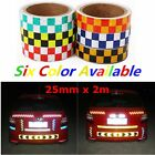 25mm*2m Intensity Reflective Car Sticker Double Color Chequer Roll Signal PVC