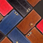 For Huawei P10 Thin Classic Leather Stand Card Wallet Case Cover + Wrist Strap