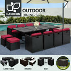 Gardeon Outdoor Furniture Dining Set Table And Chairs Patio Wicker Garden Rattan