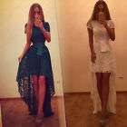 2016 Lace Dovetail UK Irregular Long Pageant Evening Prom Party Bridemaid Dress