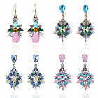 Sale Women Rhinestones Artificial Gemstone Resin Water Drop Earrings Lots