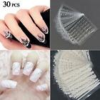 30 Sheets 3D Lace Nail Art Stickers Black White DIY Tips Decal Manicure ToolsNA