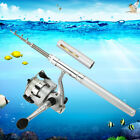 Aluminum Pocket Pen Shape Fishing Fish Rod Pole +Reel with 500Pcs Fish hook