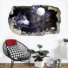 3D Moon Wolf 099 Wall Murals Wall Stickers Decal Breakthrough AJ WALLPAPER AU
