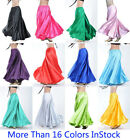 Belly Dance Satin Skirt Full Circle Long Sexy Dancing Costume Tribal 16 Colours