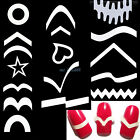 French Stencil Nail Art Form Fringe Guides Manicure Stickers Tips Tape 24 Types