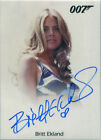 James Bond Archives 2017 Final Autograph Card Britt Ekland as Mary Goodnight $49.95 USD
