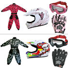 LEO-X18 Children Kids Motocross Helmet Race Suit Set Gloves Goggle QUAD Pit Dirt