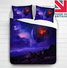 3D Galaxy Planets Space Duvet Cover Bedding Set Single ,Double ,King
