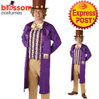 CA349 Mens Willy Wonka Chocolate Factory Book Week Fancy Costume