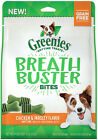 Greenies Breathbuster Bites Fights Dog Breath Chicken Apple Fresh 11 oz