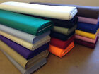 plain cotton drill fabric 150cm wide, premium quality more than 15 colours