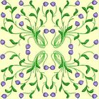 Anemone Quilt Squares 2- DESIGN 8- Anemone Machine Embroidery Singles In 4 Sizes