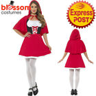 CA360 Ladies Little Red Riding Hood Book Week Fairytale Fancy Dress Up Costume