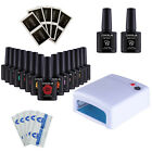 Nail Gel Polish Starter Kit White/Pink 36W UV Lamp+3 Colors Gel Polish FREE GIFT