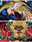 New Chinese Style Causal Short-sleeved Unisex Embroidered Dragon Phoenix T-shirt